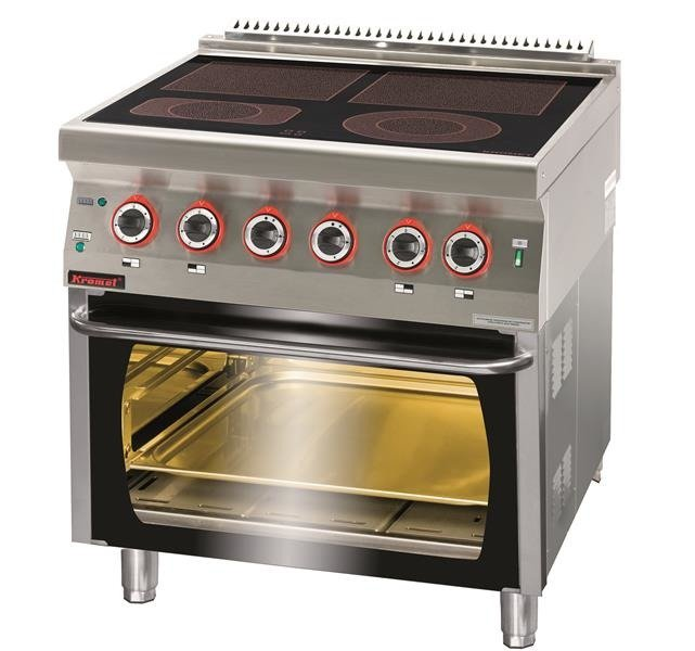 Kuchnia Elektryczna Ceramiczna Z Piekarnikiem Elektrycznym 2x4kw 1x2 1kw 1x2 0kw 6 5 Kw Piekarnik