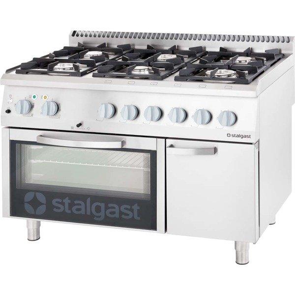 Stalgast Kuchnia Gazowa 6 Palnikowa Z Piekarnikiem Elektrycznym 3657kw G30 9718230